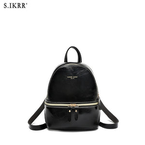 S.IKRR New Designer Fashion Women Backpack Mini Soft Touch Multi-Function