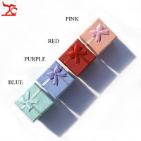 Wholesale 48pcs/lot Fashion Jewelry Box, Multi colors Rings Box, Jewelry Gift Packaging Earrings Holder Case 4*4*3CM