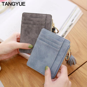 TANGYUE Women's Credit Card Holder Leather Purse for Cards Case Wallet for Credit ID Bank Card Holder Women Cardholder and Coins