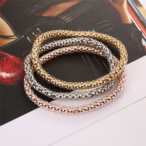 3 PCs/Set Popcorn Chain Bracelets for Women New Fashion Simple Bracelets