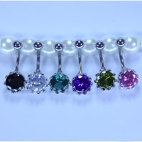 AAA zircon Belly Button Ring Medical Stainless steel never allergy Body