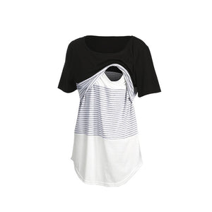 2019 Summer Women's Breastfeeding T-shirt Casual Short Sleeve Loose Nursing Tops