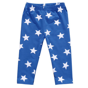 Newborn Kid Baby Boy Girl Star Print Pant Three Colour Pant Bebe Pajama Pants Casual Pants