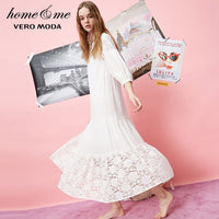 Vero Moda new fairy wind lace sweet cute long nightdress | 31837C541