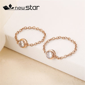 style accessories single stainless steel  chain ring titanium steel rose gold