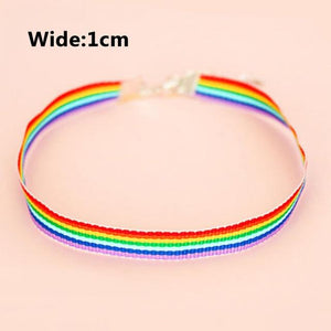 Adjustable Wide 1cm Girls Wedding Wide 1.5cm Candy Color Nylon Rainbow