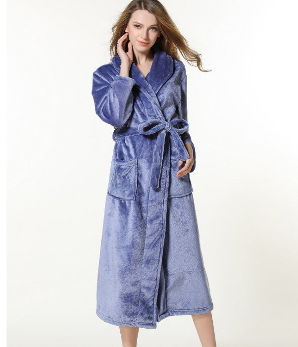 Robes Pajamas Winter Bath Lounge Long Kimono Robe Vintage Fleece Lined Ultra Plush Plus Size for Women and Men ouc032