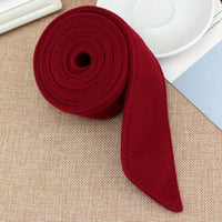 195x4.5cm Unisex Faux Wool Belt Waistband Wrap Woolen Sash Tie Fashion Wool Buckles for New Overcoat Accessories