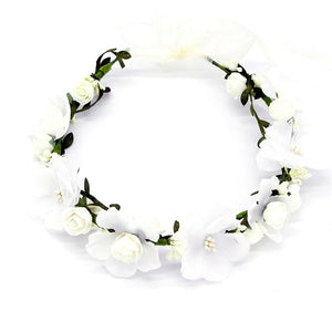 Wedding Hair Accessories Girls Headband Flower Bridal Headpiece