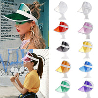 2019 New Hot  Women Man Transparent Summer Sun Visor Party Casual Clear Plastic
