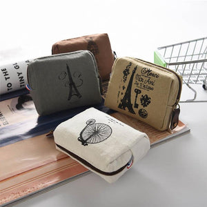 Coin Purses New Style Canvas Coin Wallet High Quality Child Women Change