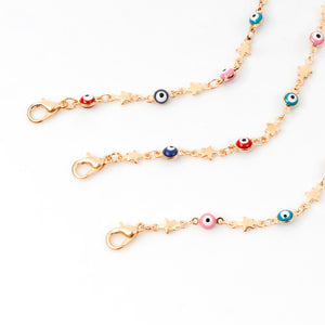 Fashion Jewelry Star Evil Eye Choker Necklace For Women Collier Oeil