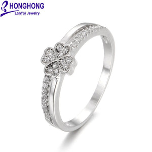 High Quality Cubic Zirconia Rings For Women Occident Style Popular Single