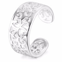Women's real 925 Sterling-Silver Toe-Rings Open-Rings Tail-Ring Pattern Adjustable jewelry design wedding ring