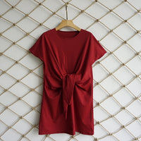 2019 Summer New Fashion Solid Color Dress Casual O-Neck Loose Dresses