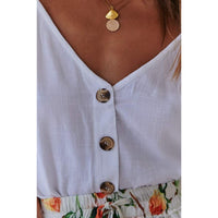 Women's button-up fashion sleeveless vest top female summer Button Solid Vest