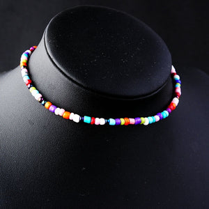 Star Moon Sun Chokers Necklaces for Women Bohemian Colorful