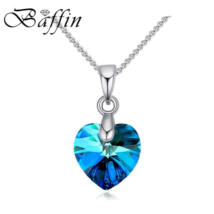 BAFFIN Mini Heart Necklaces Pendant Crystals From Swarovski For Women Girls Gift