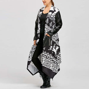 Woman Cape Loose Overcoats Indie Folk Women Robes Turkey Capes Ponchos Muslim Coats Streetwear Plus Size 5XL Open Stitch B394