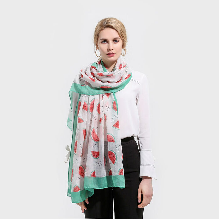 Fashion Woman Scarf Min Green White Red Watermelon Scarves Shawls Stoles For Ladies