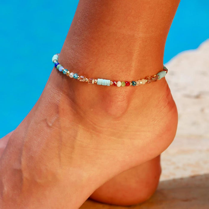 NEWBUY 2019 New Fashion Handmade Beads Anklets For Women Girl Summer Beach Jewelry Boho Colourful Ankle Bracelet Femme Bijoux