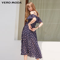 Vero Moda Ruffled Floral Slip Strap Dress Maxi/Long Beach Dress 2019 | 31837B508