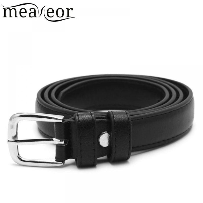 Female Belt Leather Faux Fashion Antique Black Belt  KLV Metal Buckle Jeans Women Faux Leather Belts for Jeans Pants New Sale