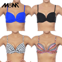 M&M Women Bikini Top Ruched Print Sexy Swimsuit Tops Underwire
