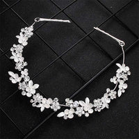 Crystal Flower Hair Vine Bridal Head Jewelry Accessories Wedding Headpieces