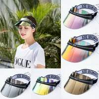 Summer Hats Sun Visors Women Men High Quality Casual Hats PVC Clear