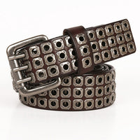 ZAYG Brand Luxury Pin Buckles Men and Women Hollow Belt Jeans Wild Belts for Designer Fashion High Quality Leisure Leather Belt
