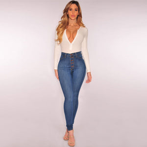 Women Summer Pants 2019 new Stretch Jeans high waist Female Stretch Slim Pants Y517