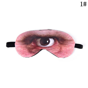Cartoon Sleeping Mask Eyepatch Eyeshade Eye Cover Lovely Printing Emoji Nap Eye Care Shade Travel Relax Sleep Aid for Man Women