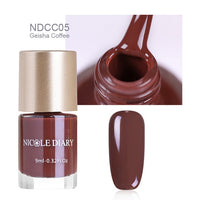 NICOLE DIARY 9ml Nail Polish Varnish Metallic Mirror Effect Matte Dull  Series Polish Manicure Nail Art Lacquer Tip Color