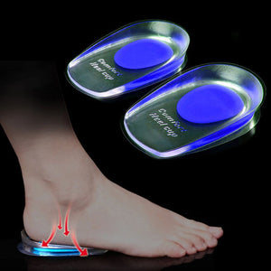 1pair Soft Silicone Gel Insoles for heel spurs pain Foot cushion Foot Massager