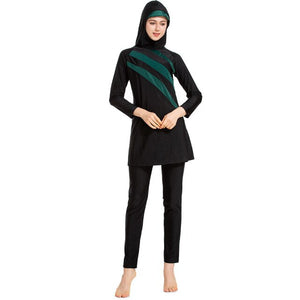 YONGSEN Plus Size Burkinis Islamic Swimsuit For Women Full Cover