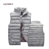 Winter Jacket Black Down Vest Women's Windproof Warm