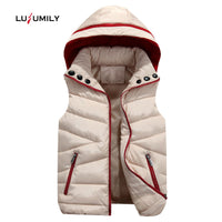 Lusumily Women Winter Vest Waistcoats Cardigans Jacket Casual Slim Winter Warm