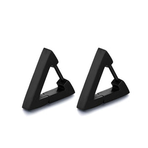 Semitree 316L Stainless Steel Creative Hoop Earrings Women Triangular Earrings