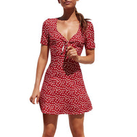 Womens Summer Mini Dress Ladies Short Sleeve Bodycon the dress Beach Party