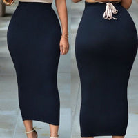 Hirigin Bodycon Skirt High Waist Stretch Long Women Plus Size Winter Knitted Ladies Pencil Skirt