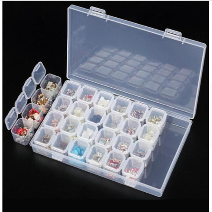 28 Grid Acrylic Separate Slots Earrings Storage Box Ring Bracelet necklace Clip Hoider Jewelry Convenient Accessories Cases