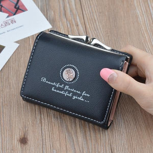 Women Small Wallet Cute Vintage Floral Mini Hasp Purses Female Short Coin Purse Credit Card Holder Ladies Clutch Wallets New