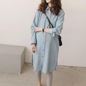 Maternity Expectant Mother Clothing Pregnant women Loose Long Sleeve Denim