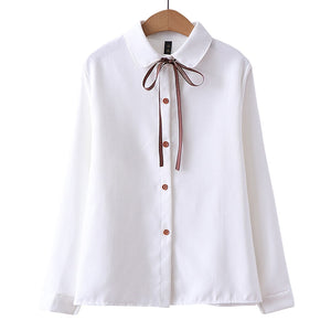 New Women's Shirt Classic Corduroy Blouse Female Plus Size Loose Long Sleeve