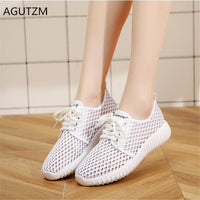 AGUTZM  New Women Vulcanize Shoes Summer Mesh Casual Shoes Flat Soft Bottom Sneakers Breathable outdoor Women Shoe Y85