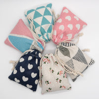 5pcs/lots Multi Color Small Cotton Gift Bags Jewelry Packaging Bag Wedding