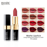 Lipstick Moisturizer Lips Smooth Lip Stick Long Lasting Beauty Makeup 12 Colors