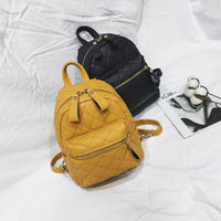 Teenager Girls Small Backpack Female Lingge Leather Backpack Purse Women Mini School Bags Cute Funny Backpack for Girl Sac A Dos
