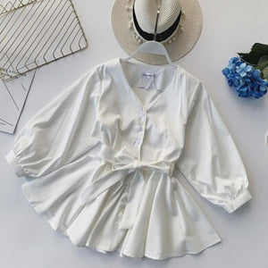 Peplum Top Korean Fashion Clothing V Neck Blouse Ruffle Shirt Womens Tops And Blouses 2019 Spring Boho Kawaii Clothes Blusas New